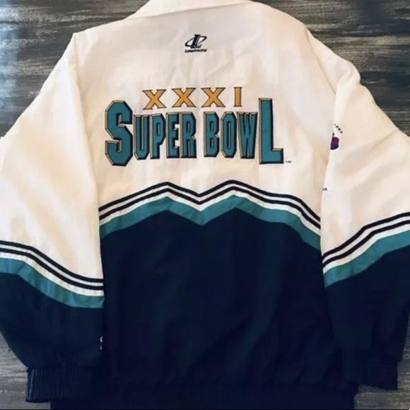 Team NFL Other - 1997 Super Bowl XXXI New Orleans Green Bay Coat L